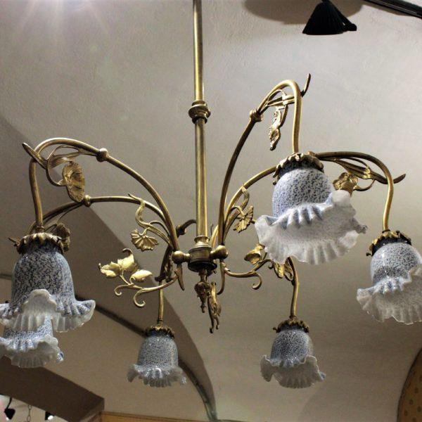 bronzo dorato e opaline